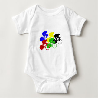 Body Para Bebê Cavaleiros da bicicleta da raça de bicicleta do