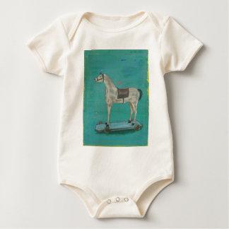 Body Para Bebê Cavalo de madeira