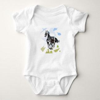 Body Para Bebê Cavalo preto