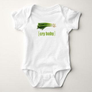 Body Para Bebê Cebola verde da chalaça vegetal do bebê do grito