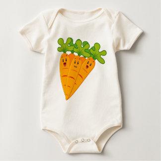Body Para Bebê Cenouras engraçadas do jardim
