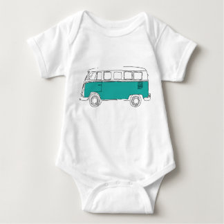 Body Para Bebê Cerceta Van Bodysuit - presente do bebê