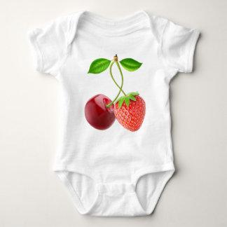 Body Para Bebê Cereja e morango junto