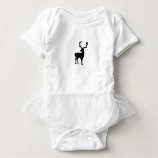 Body Para Bebê Cervos preto e branco