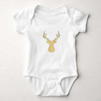 Body Para Bebê Cervos - tiras - bege e branco