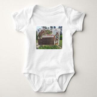 Body Para Bebê Cetatea Rasnov, Romania. Mapa histórico da