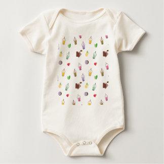 Body Para Bebê Chá da bolha de Kawaii