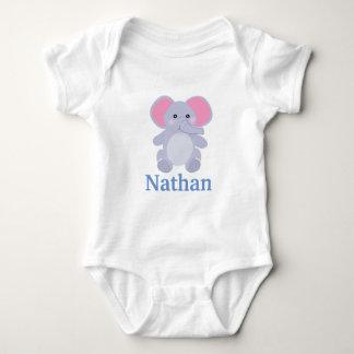 Body Para Bebê Chá de fraldas cinzento adorável do menino do