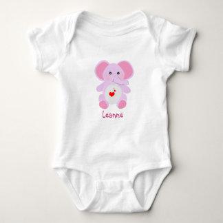 Body Para Bebê chá de fraldas cor-de-rosa bonito da menina do