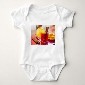 Body Para Bebê Chá do citrino da fruta com canela e laranja