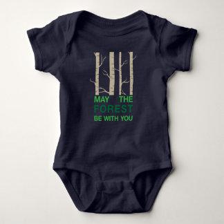 Body Para Bebê Chalaça da floresta