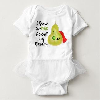 Body Para Bebê Chalaça positiva da pera - eu cresço a comida de