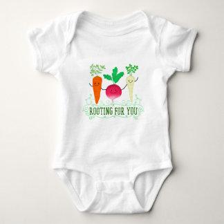 Body Para Bebê Chalaça positiva da raiz - enraizando para você