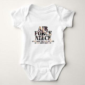 Body Para Bebê Chamada de resposta da sobrinha da força aérea