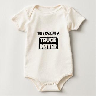 Body Para Bebê chamam-me um camionista