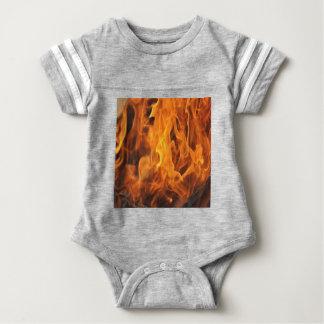 Body Para Bebê Chamas - demasiado quentes a segurar