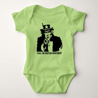 Body Para Bebê Chame-me presidente