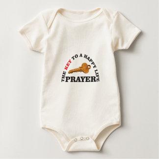 Body Para Bebê chave da oração à vida feliz