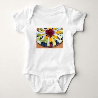 Body Para Bebê Cheio de vidro da escala de várias frutas frescas