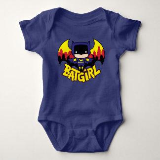 Body Para Bebê Chibi Batgirl com skyline & logotipo de Gotham