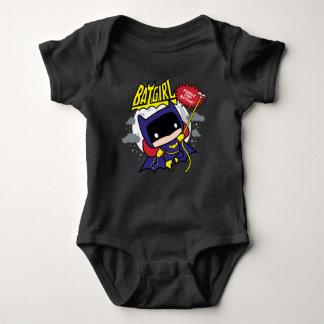 Body Para Bebê Chibi Batgirl pronto para a ação
