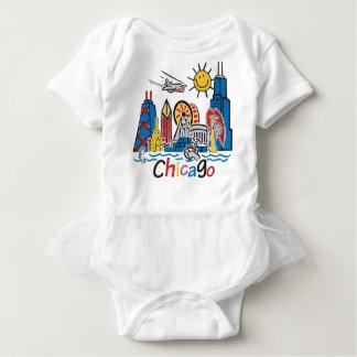 Body Para Bebê Chicago caçoa a obscuridade