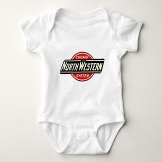 Body Para Bebê Chicago & logotipo do noroeste 1 da estrada de