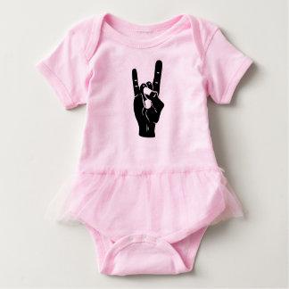Body Para Bebê Chifres do diabo do rolo da rocha n