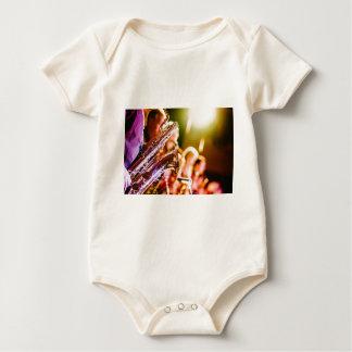 Body Para Bebê Chifres dos saxofones dos instrumentos musicais da