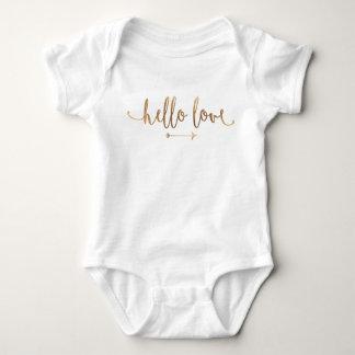 Body Para Bebê Chique moderno da seta do ouro do EQUIPAMENTO