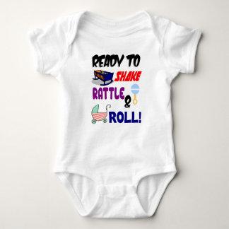 Body Para Bebê Chocalho e rolo da agitação