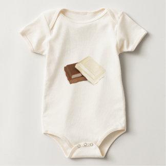 Body Para Bebê Chocolate branco e marrom