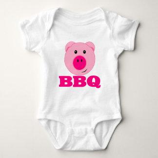 Body Para Bebê CHURRASCO cor-de-rosa bonito do porco