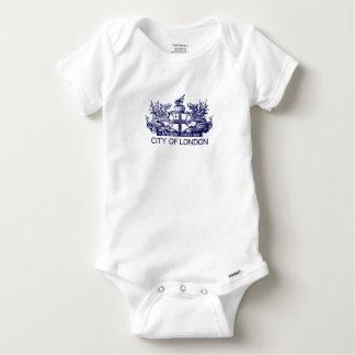 Body Para Bebê Cidade de Londres, vintage, brasão, Inglaterra