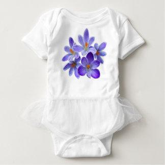 Body Para Bebê Cinco açafrões violetas 05,0, cumprimentos do