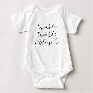 Body Para Bebê cintilação da cintilação das citações do bodysuit