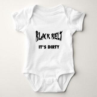 Body Para Bebê CINTURÃO NEGRO - está SUJO (as luzes)