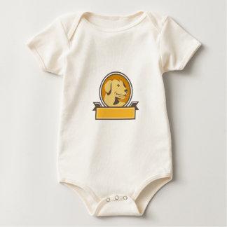 Body Para Bebê Círculo amarelo da cabeça do golden retriever de