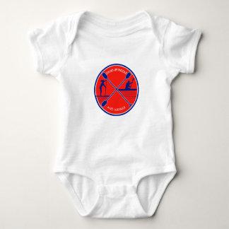 Body Para Bebê Círculo de pé da pá e do caiaque retro