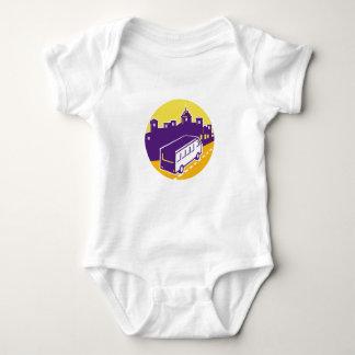 Body Para Bebê Círculo de Turista Van Cidade Arquitectura da