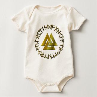 Body Para Bebê Círculo do Rune com Volknot