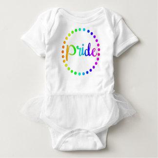 Body Para Bebê Círculos do arco-íris do orgulho
