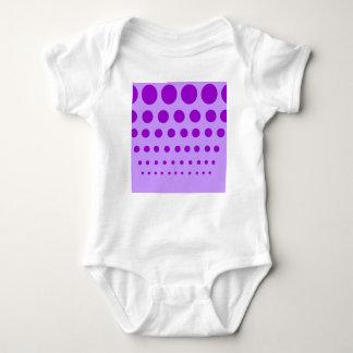 Body Para Bebê Círculos roxos graduados