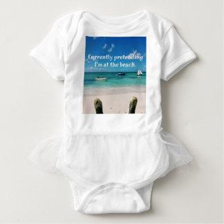 Body Para Bebê Citações cómicos das águas das caraíbas bonitas