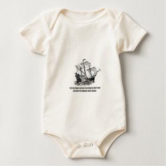 Body Para Bebê citações do oceano no mar