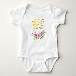 Body Para Bebê Citações douradas: Toda a benevolência do deus em