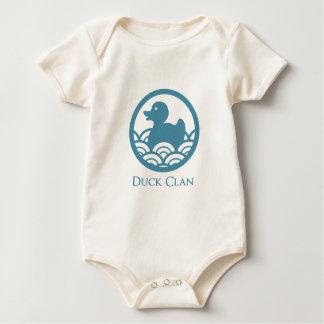 Body Para Bebê Clã de borracha do pato