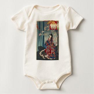 Body Para Bebê Clássico legal da arte japonesa da senhora Japão
