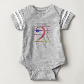 Body Para Bebê Clef baixo