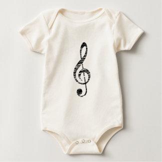 Body Para Bebê clef de triplo